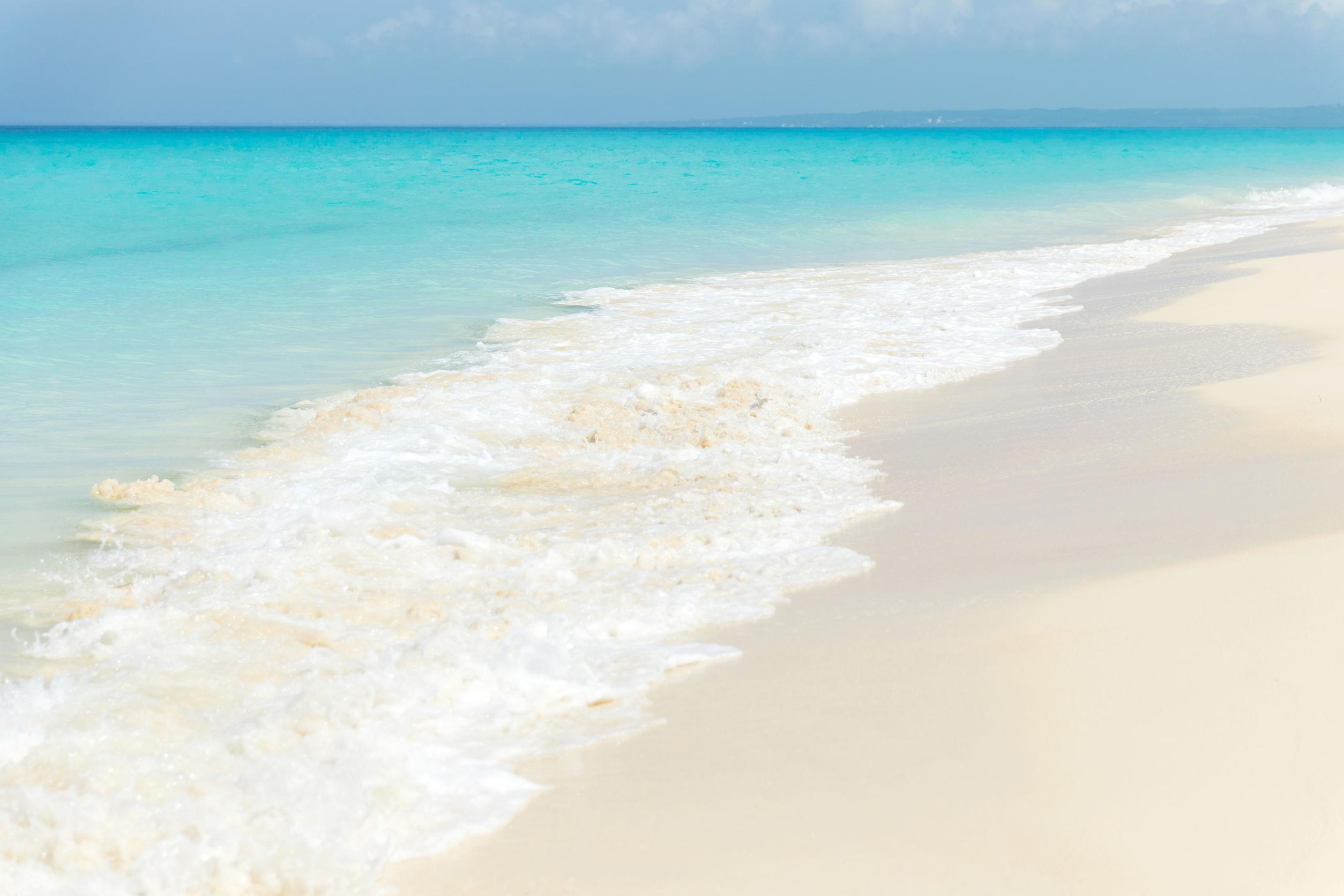 宮古島の綺麗な砂浜